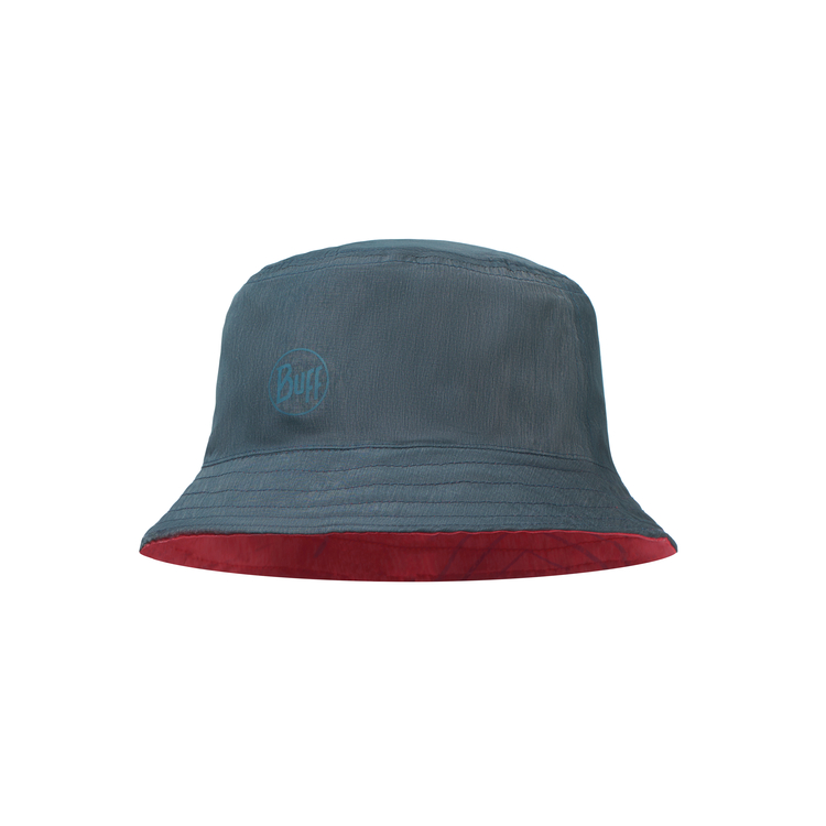 TRAVEL BUCKET HAT COLLAGE RED