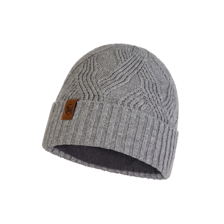 KNITTED AND POLAR HAT ARTUR GREY