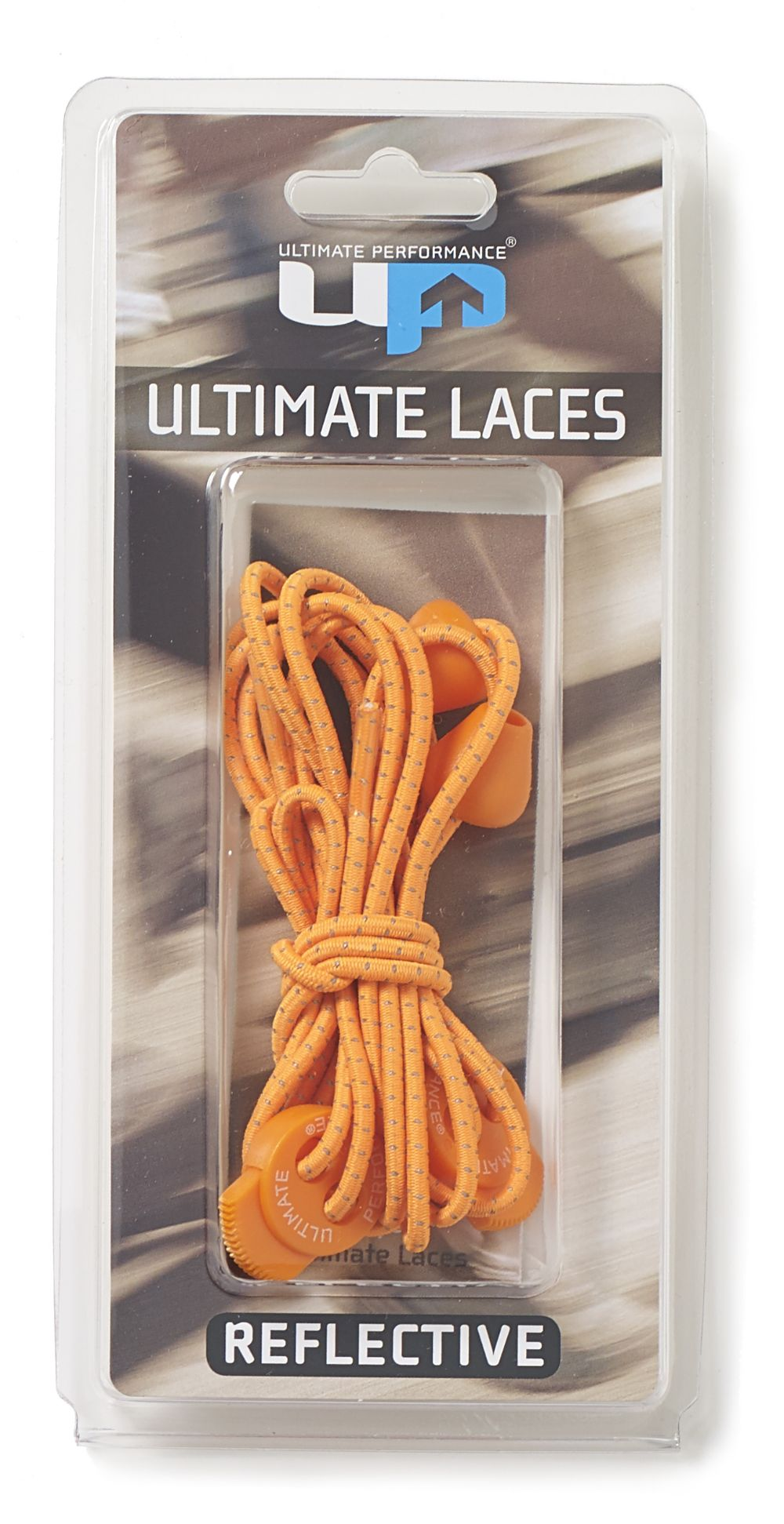 ELASTIC LACES ORANGE REFLECTIVE