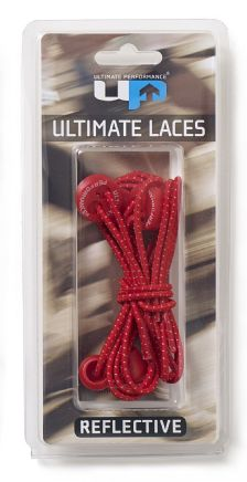 ELASTIC LACES RED REFLECTIVE