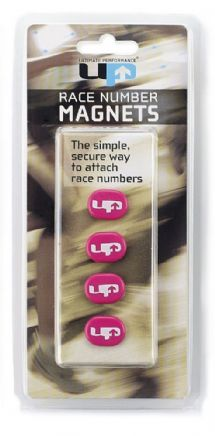 RACE NUMBER MAGNETS HOT PINK