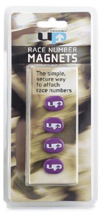 RACE NUMBER MAGNETS PURPLE