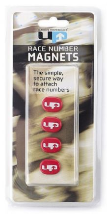 RACE NUMBER MAGNETS RED