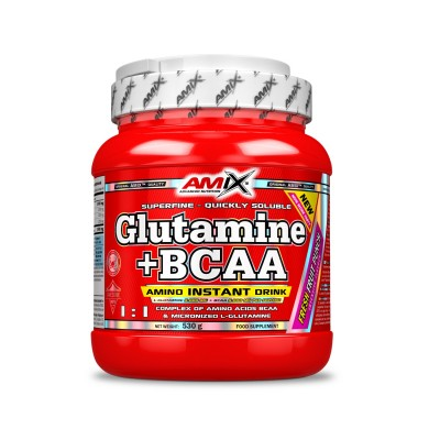 GLUTAMINA + BCAA 530gr FRUTOS DEL BOSQUE
